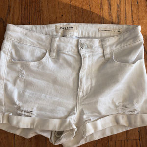 PacSun White Stretchy Short
